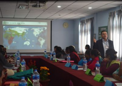 Event: Respondent Interaction - Mr. Adhikari talking about data confidentiality (2016)