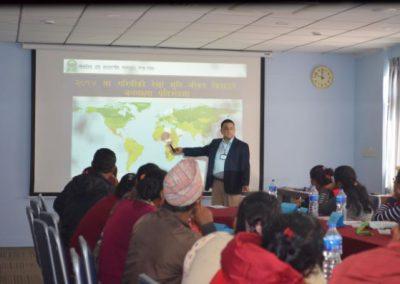 Training: Respondent Interaction - Mr. Adhikari talking about data confidentiality (2016)