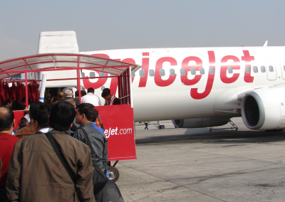 Migration: Migrants ready for boarding at Kathmandu Airport (2015)
