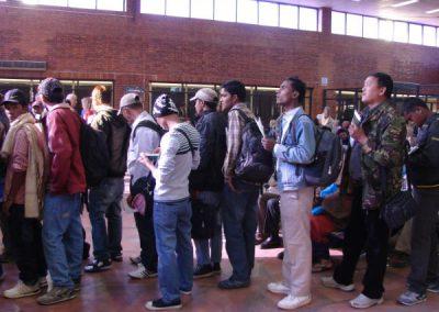 Migrants ready for boarding at Kathmandu Airport (2015)